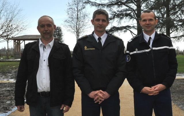 Patrice HERAUD, Général FAVIER et Colonel RETY